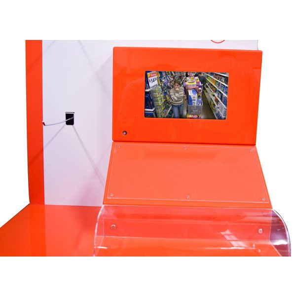 Cosmetic display stand holder with LCD screen