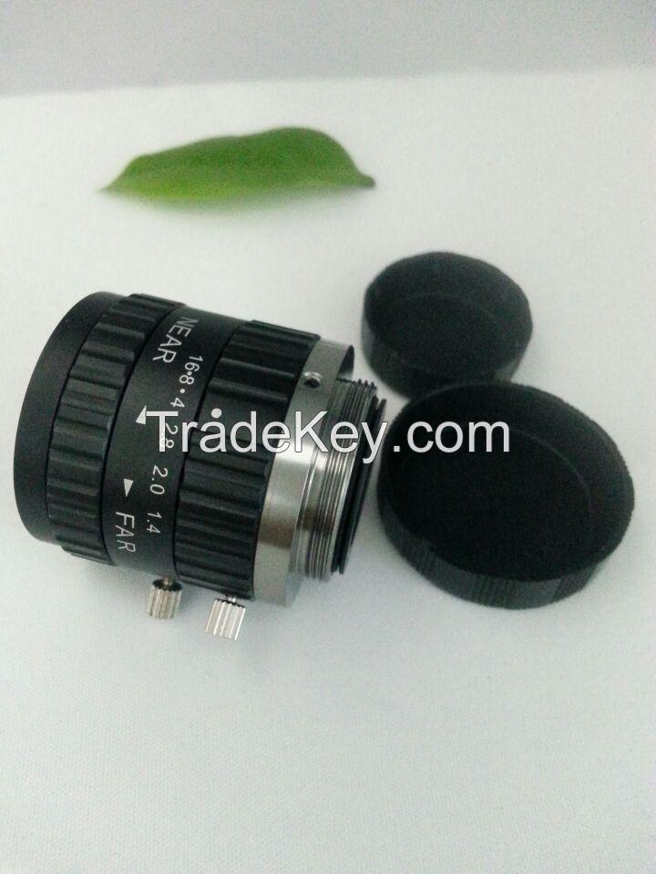 machine vision lens 16mm 2/3'' F1.4 C mount lens