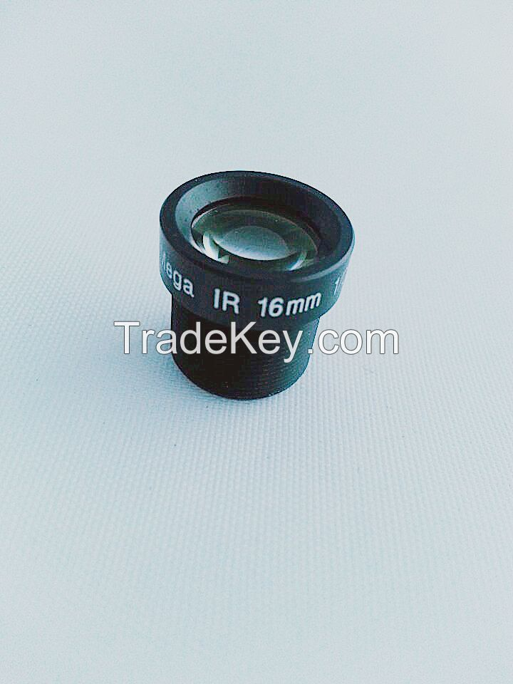 16mm m12 lens brand lens 1/2.5'' 3.0mega pixel F1.6 FIXED IRIS