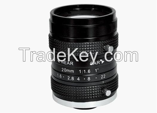 Machine vision lens 1inch 20mm C mount lens