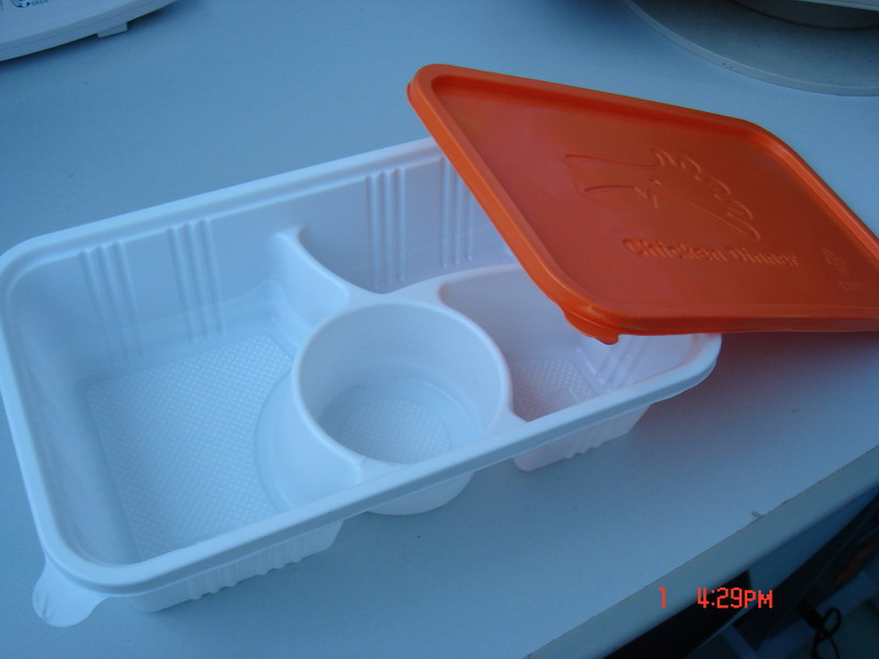 Fast food container, disposable food box, food tray