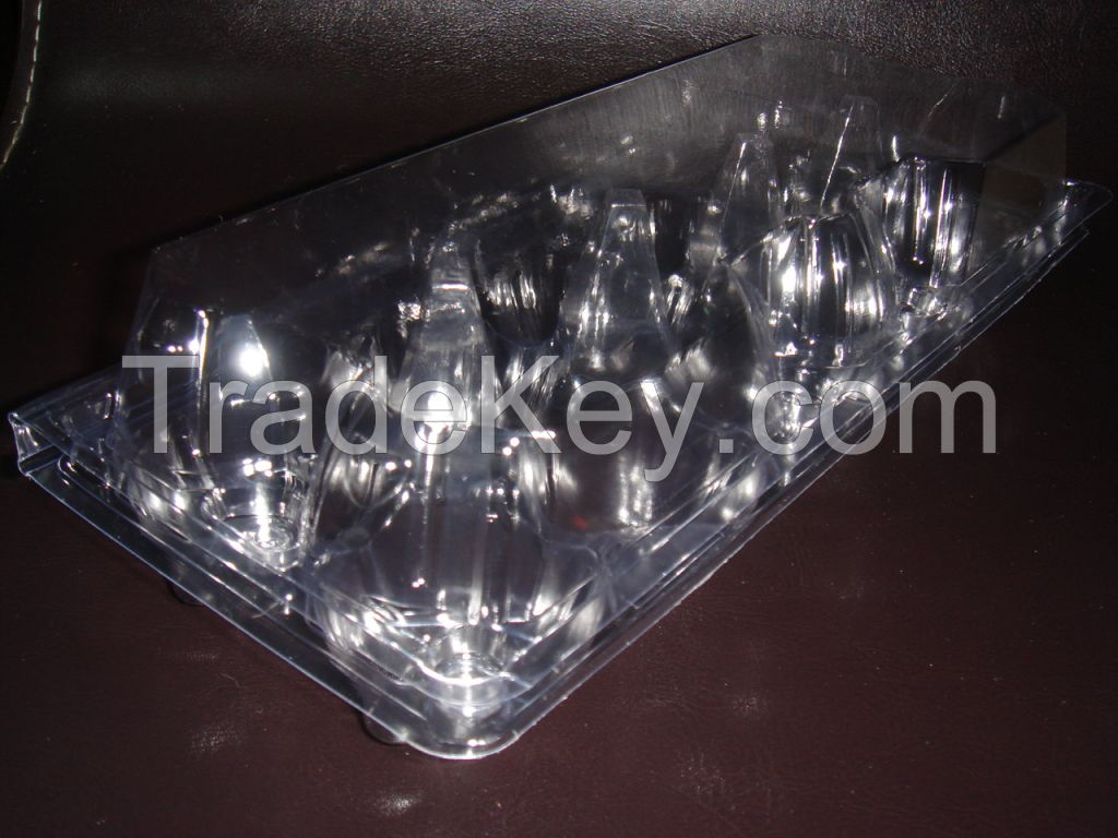 High quality Cheap Clear Plastic PET 10 cavities Egg Packaging