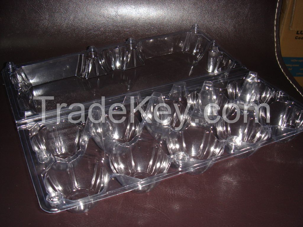 High quality Cheap Clear Plastic PET 10 cavities Egg Container