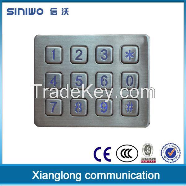 custom matrix metal dome membrane keypad with LED