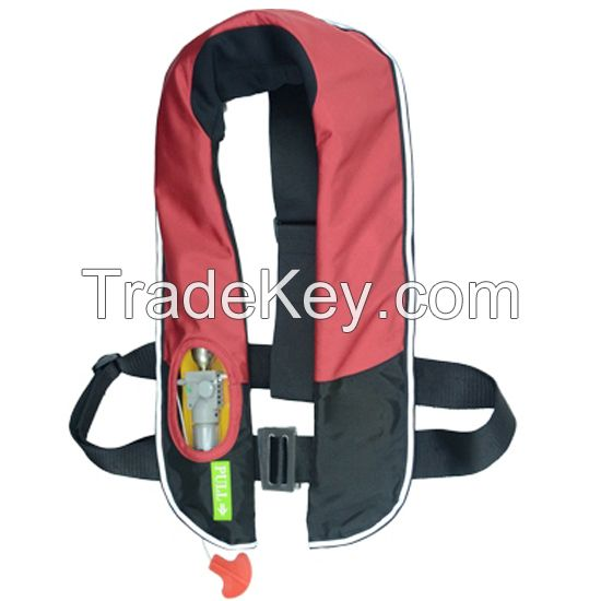 Auto and manual inflatable life jacket