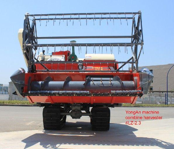 4LZ-2.3 double threshing drum track combine harvester