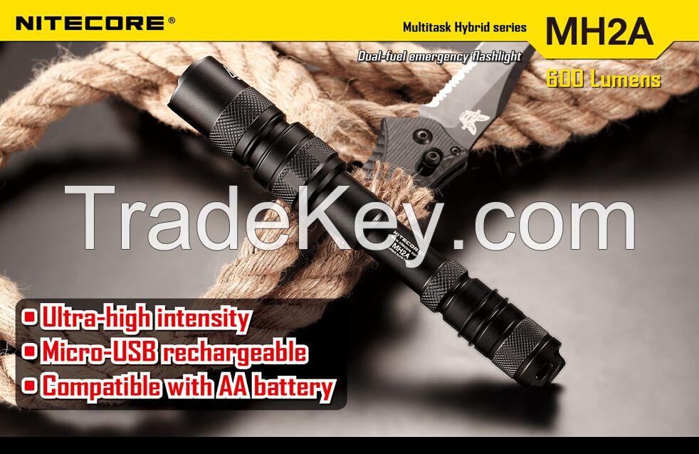 Nitecore MH2A Flashlight CREE XM-L U2 LED 3 Mode Flashlight 600 lumen Mini LED Torch Nitecore Flashlight