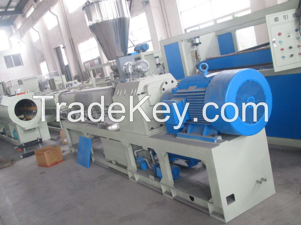PE water/gas supply pipe, drain pipe production line