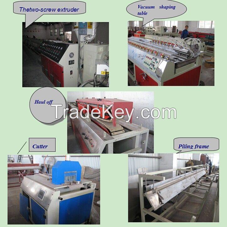 16-32mm quadruple PVC pipe production line