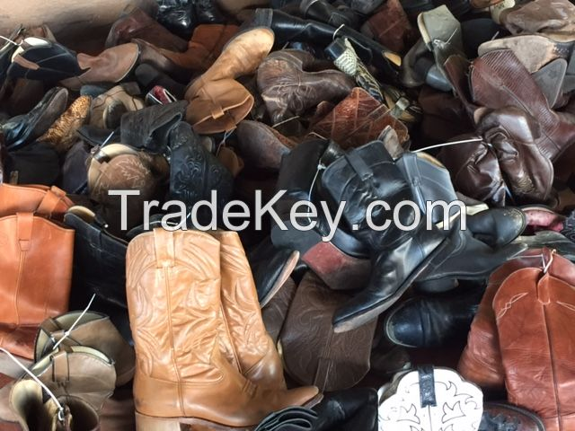 Used Leather Cowboy Boots