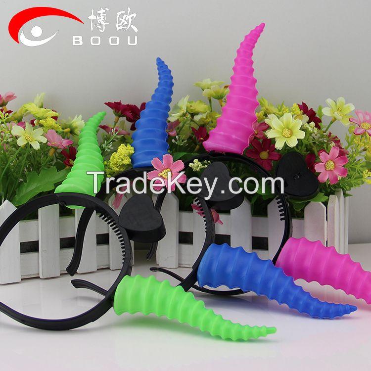 New Style Sheep Horn Headband,Glowing LED devil horn headband