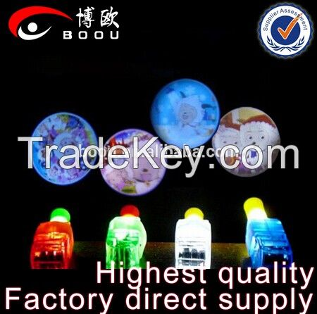 2015 Christmas Decoration LED Finger Light With Various Cartoon Projection Images, Or Multi Color LED Lights