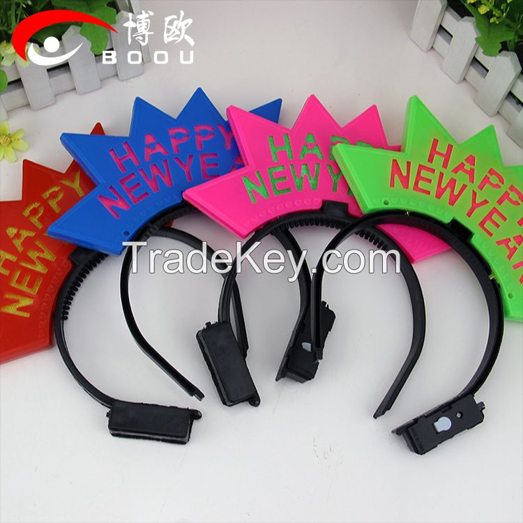 led headband , flashing head bopper for new year,party supplies led hair band