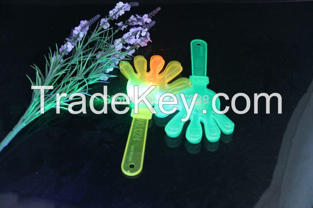 party noise maker LED Flash Plastic hand clapper 24cm