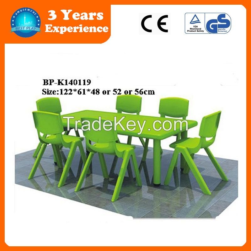 (BP-K140119)kids furniture kids study green table and chairs