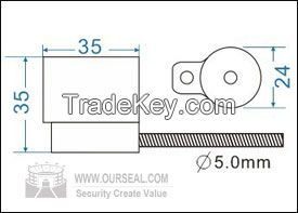OS6018, Security seals cable seals cheapest pull tight container seals