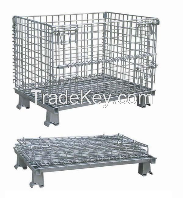 FOLDING warehouse box, storage cage , mesh container(FOR MARKET OR WAREHOUSE)  manufacturer direct sales high qulity and low cost