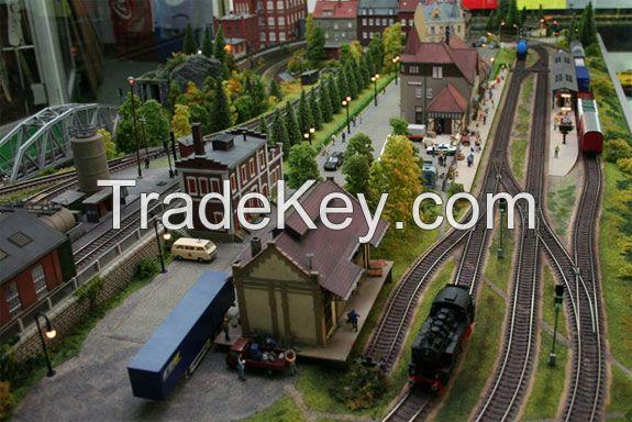 The best custom train city model layout