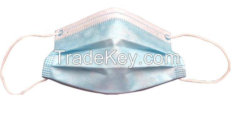 3 Ply Nonwoven Disposable Face Mask