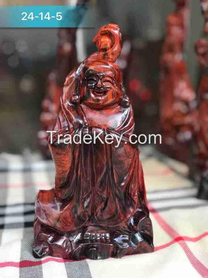Wooden Happiness Buddha