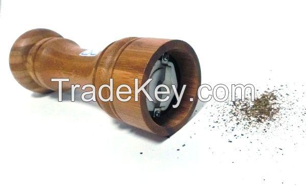 Natural wood Bamboo Manual Salt and Pepper mill/ grinder/ muller