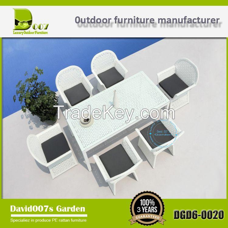 outdoor patio rattan furniture garden dining table set