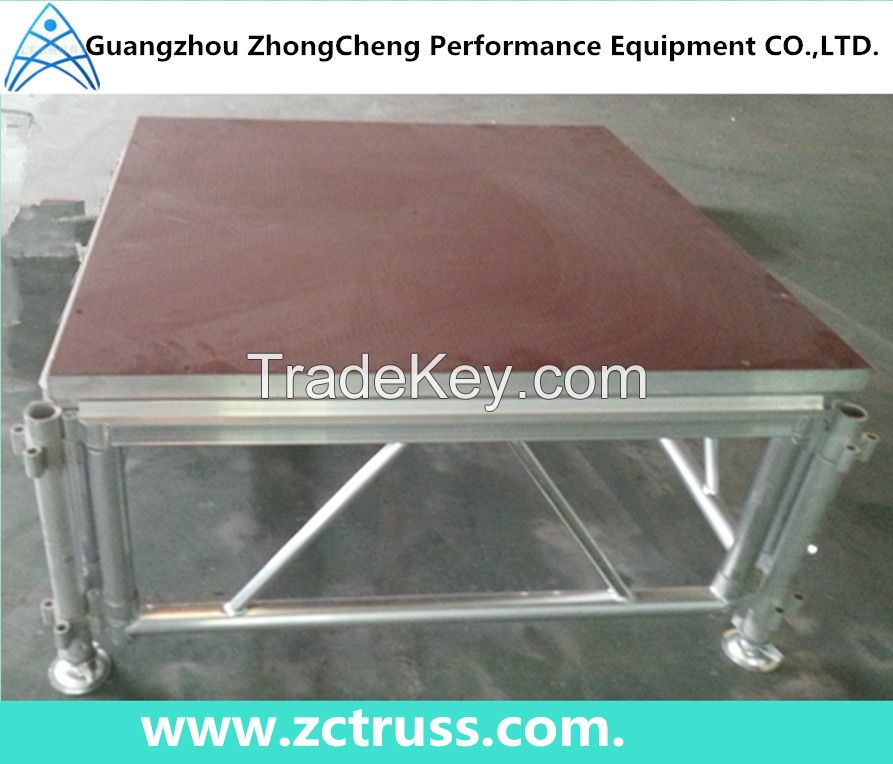 Adjustable Aluminum Plywood Stage