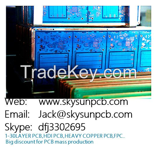 pcb prototype 2 layers double side copper high quality pcb supplier/bo