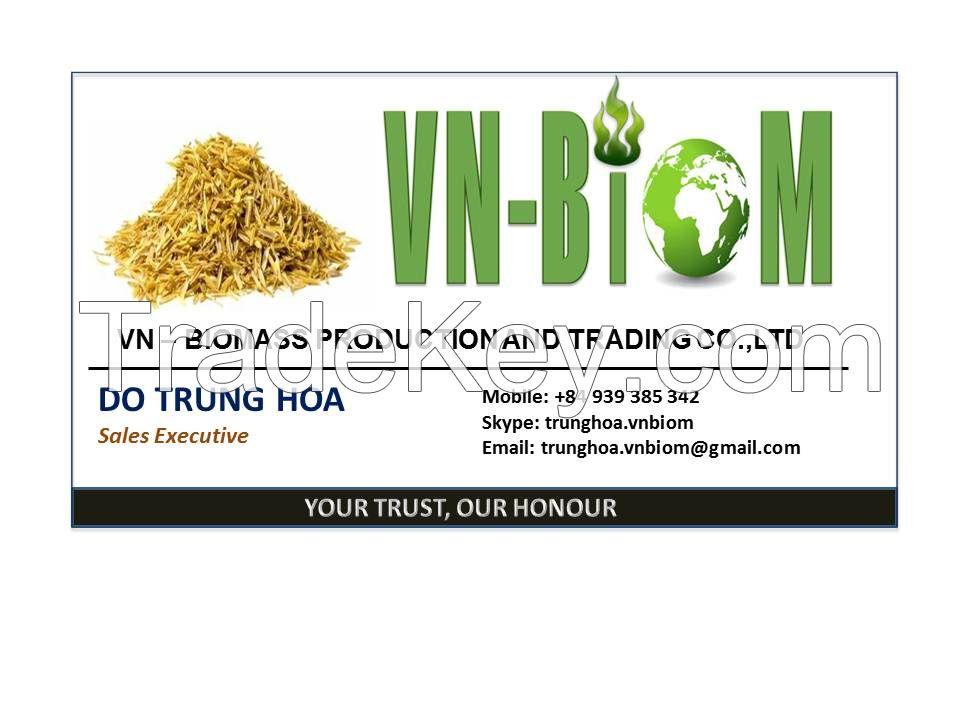 Biomass husk rice briquette