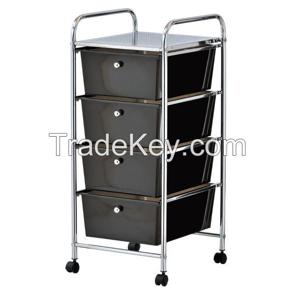 4 Tier Plastic Drawer Storage Trolley