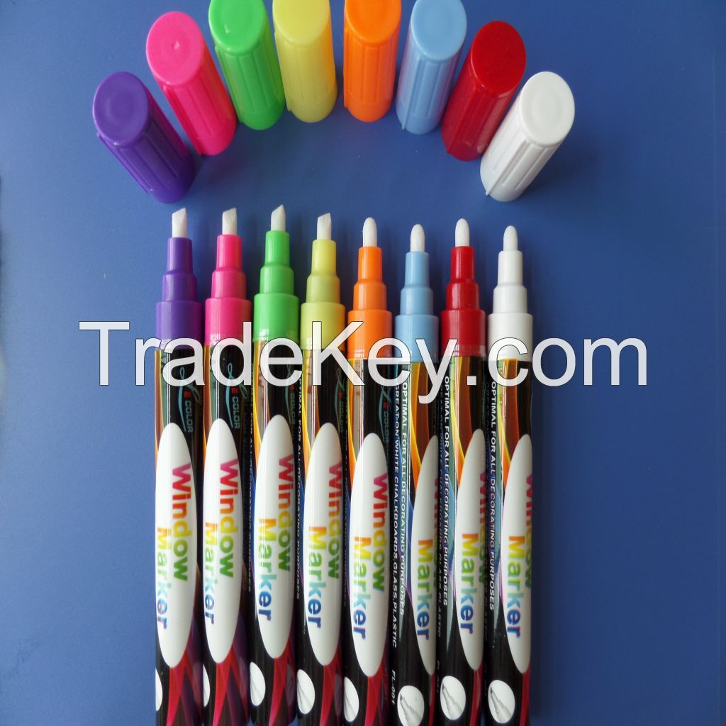 Best quality environmental Whiteboard fluorescent window marker