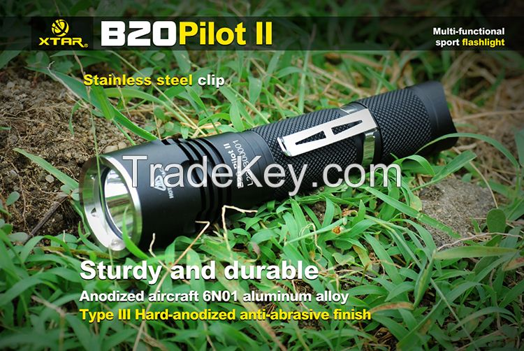 XTAR Hot selling item - B20 Pilot II Cree XM-L2 U3 Flashlight, bike light