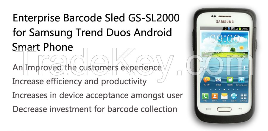 Generalscan GS SL2000 Enterprise Barcode 1D/2D 3G WIFI barcode scanner for Retail, health care, warehouse, logistics with samgsung phone