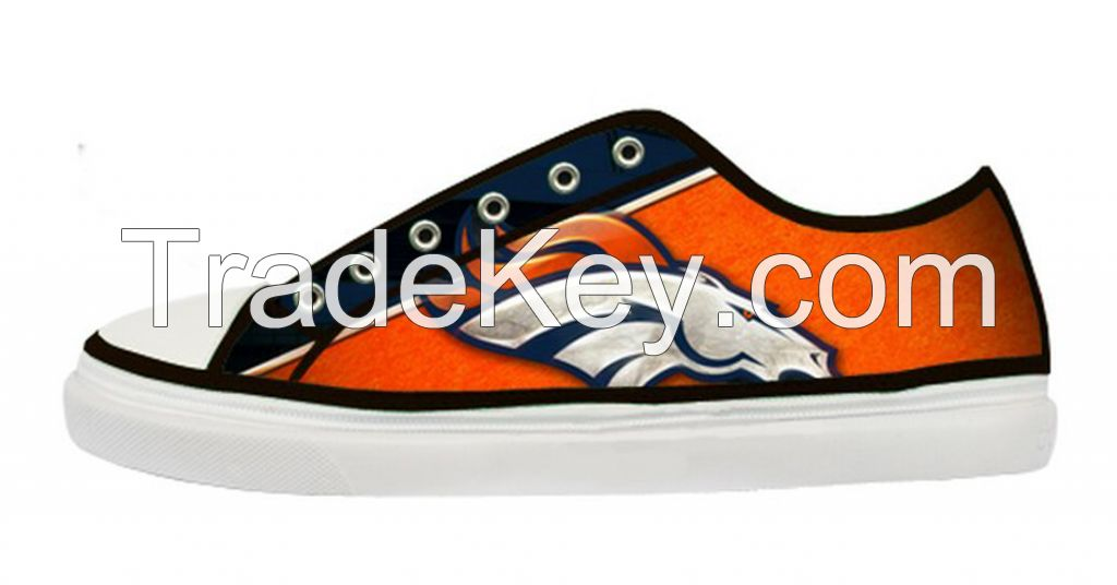 Canvas Shoes for Men Lace-Up Low Top American Football Broncos 2134876929238
