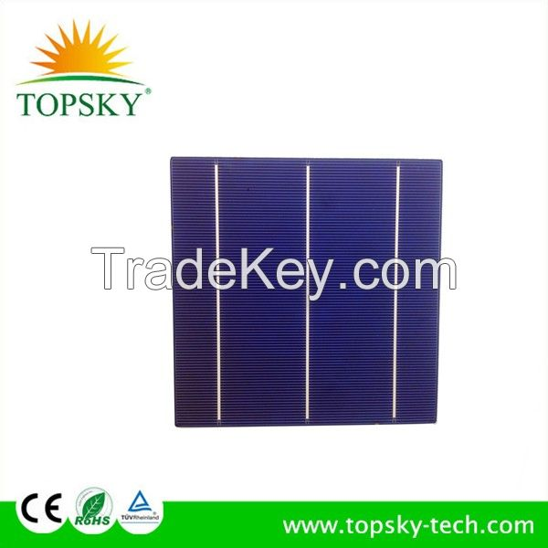 High efficiency poly solar cells 6*6 3.4W-4.3W for solar panel for home system