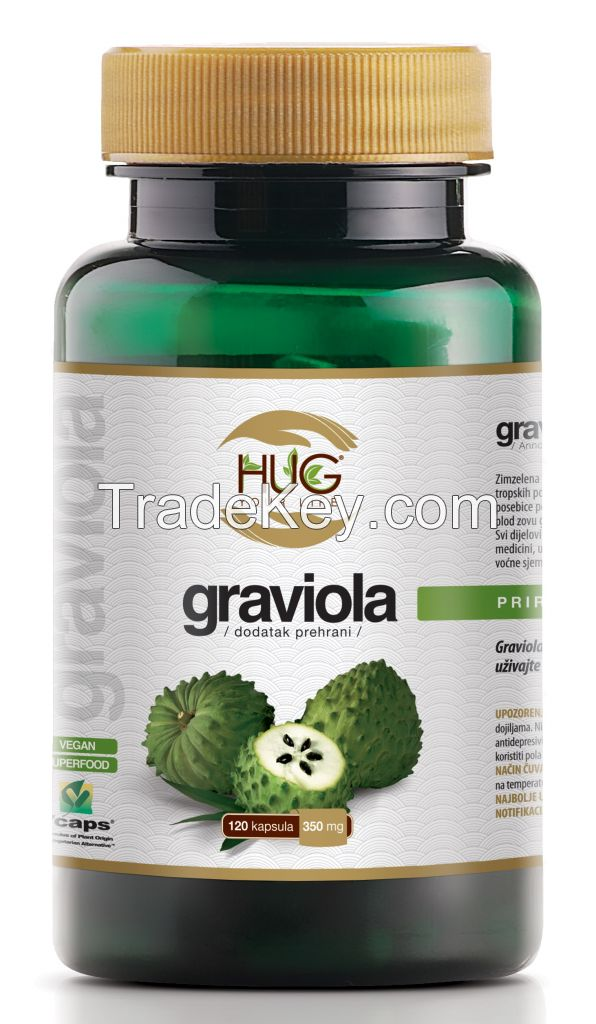 Graviola leaf capsules 120 x 350 mg