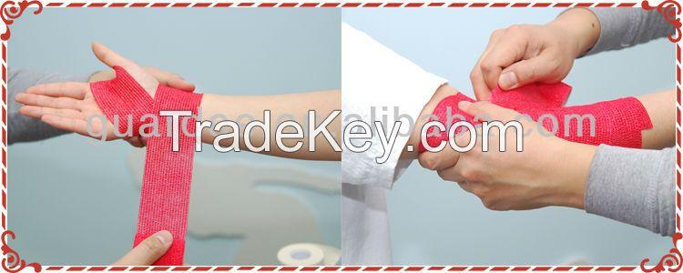 High Quality Customer Colors Non-woven Elastic Cohesive Bandage