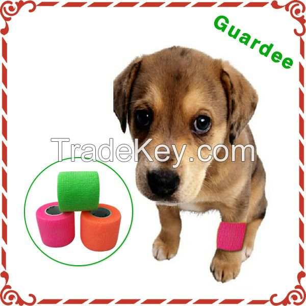 CE Approved Veterinary Self Sticky Colored Cohesive Elastic Bandage