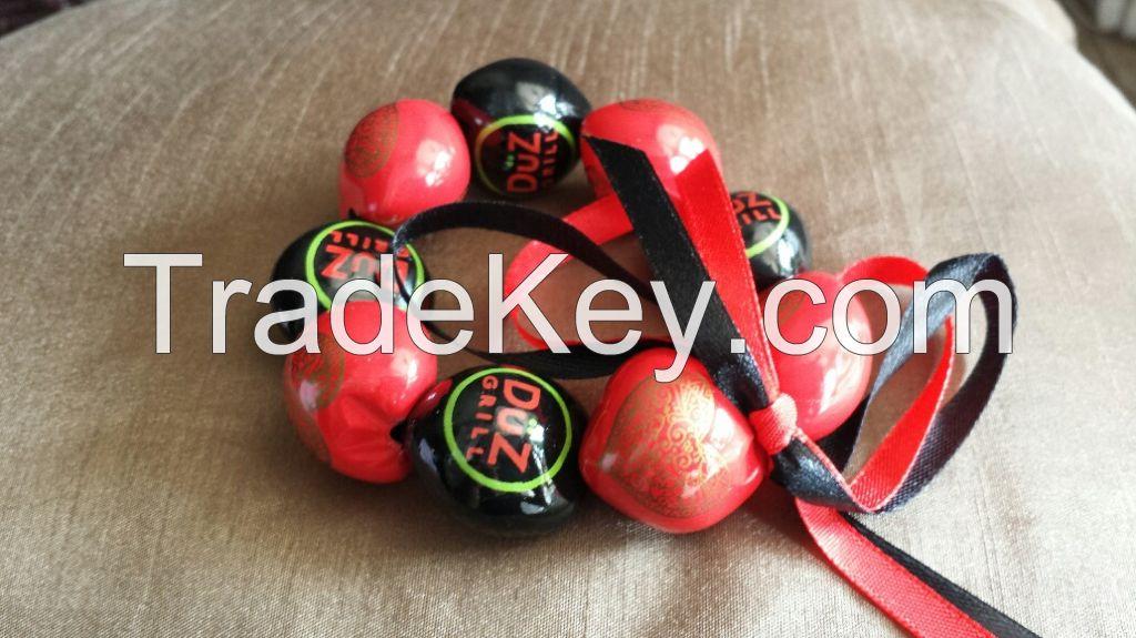 Printed Kukui Nut Beads