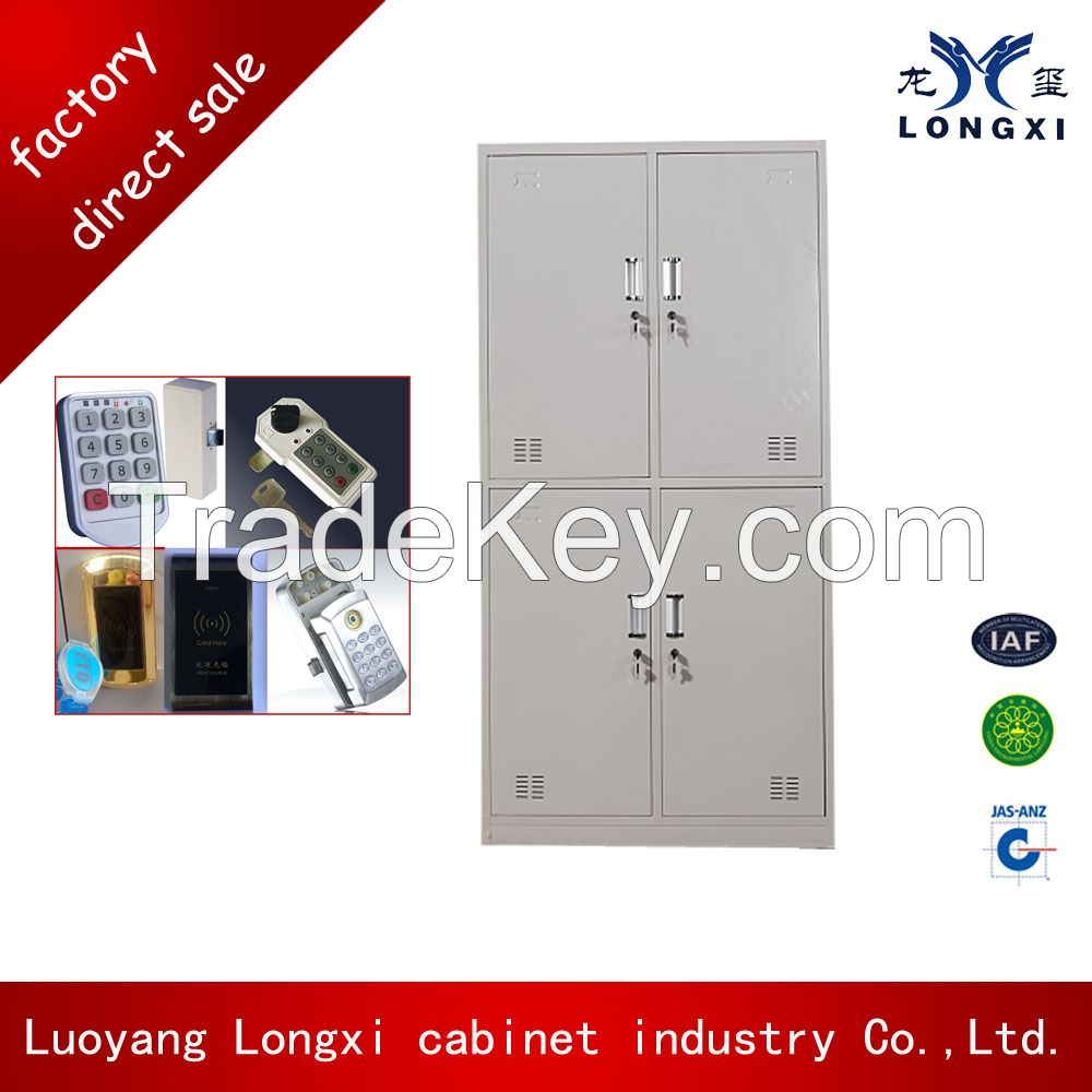KD structure 4 door locker,bathroom clothes cabinet,metal locker