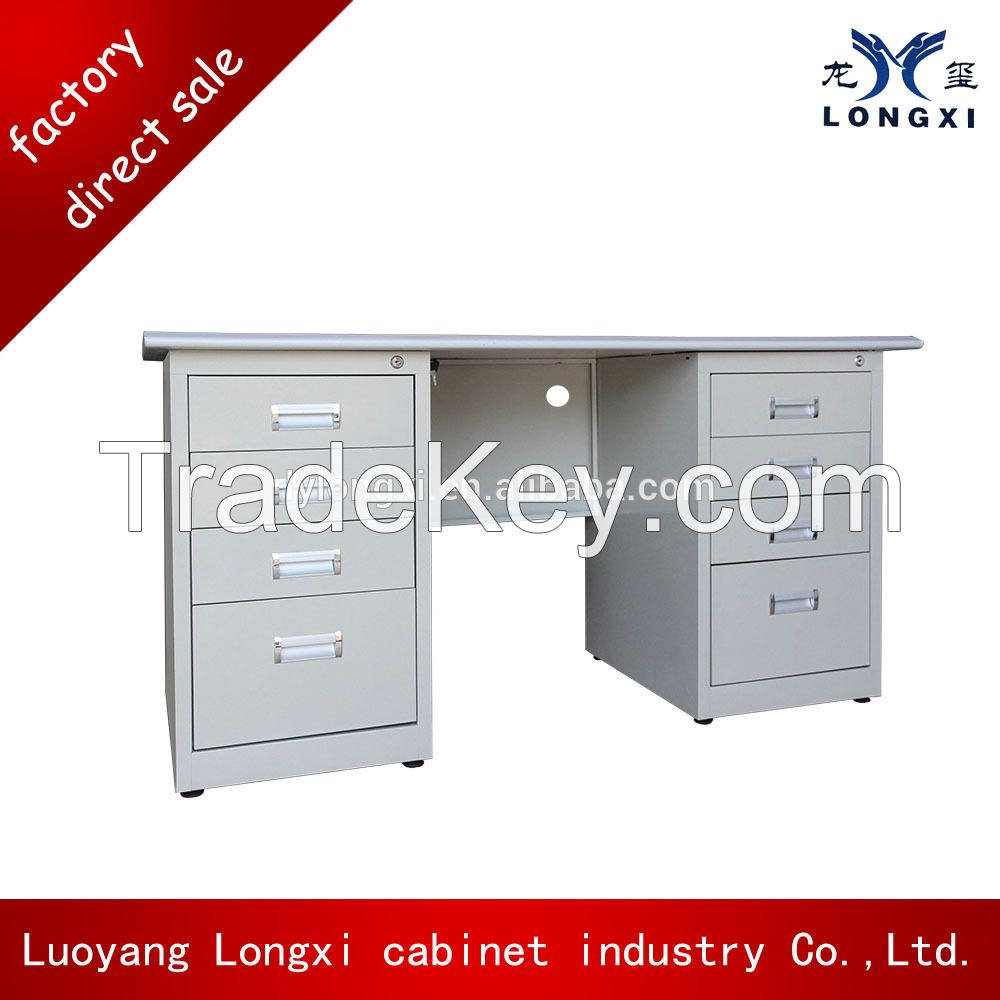 International quality standard steel office table, computer table , compact computer desk for sale