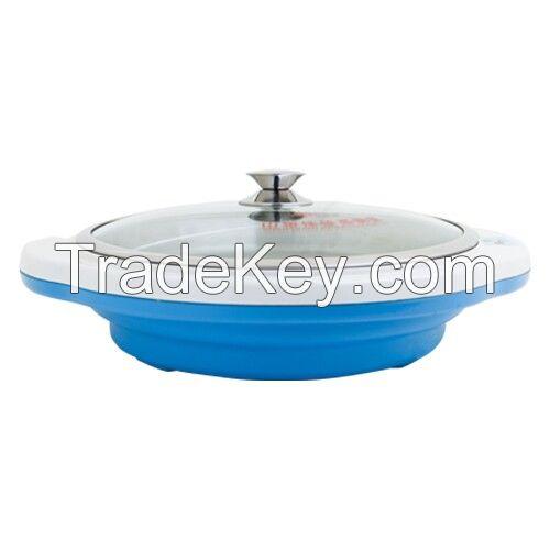 Digtal readout tempetature control electric flat pan