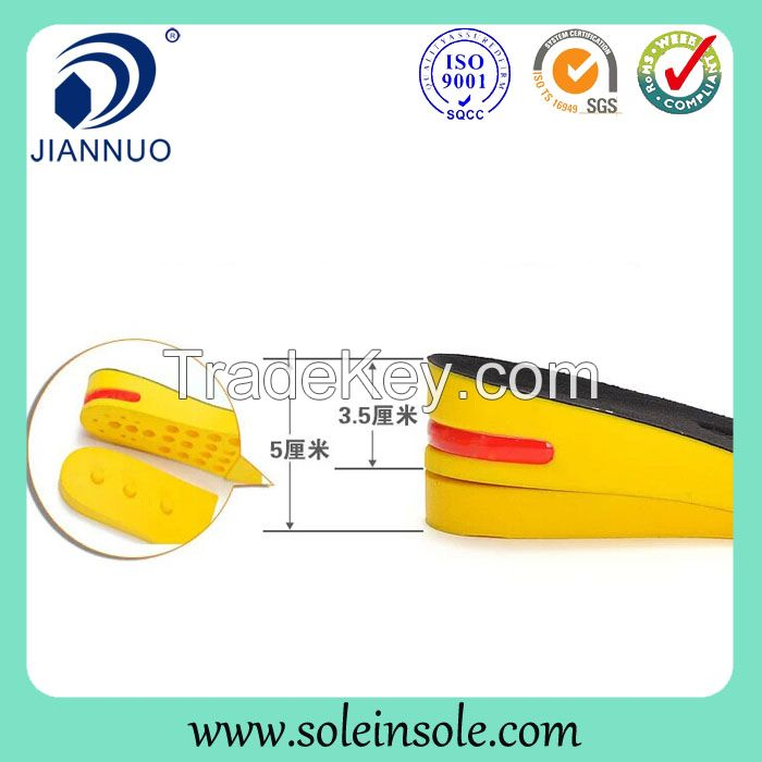 High quality height increasing antibacterial shoes insole