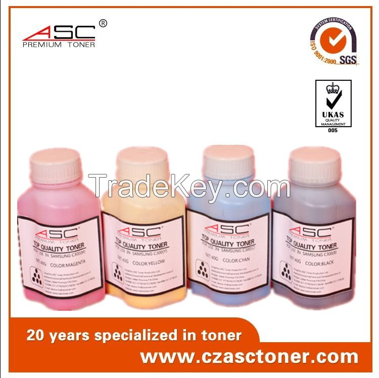 hot sal factory ASC black bottle toner powder with high quality for samsung