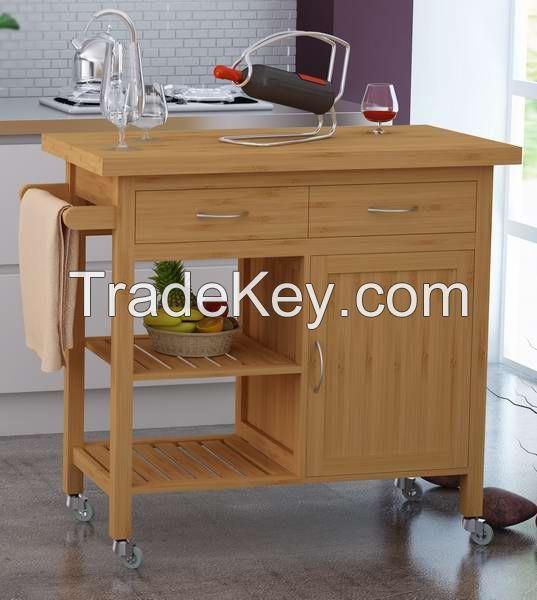 Hotsale bamboo Kitchen trolley