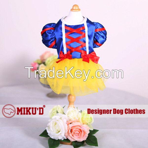2015  pet apparel cinderella snow princess graceful dog dress