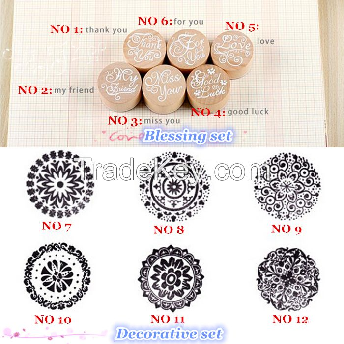 Featured diy decorative scrapbooking wood / metal + rubber stamp for diary decoration