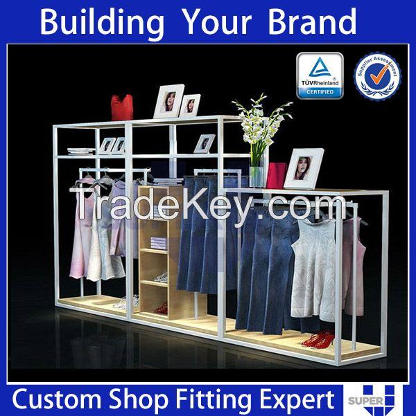 Tailor made modern design fashion  clothing display units