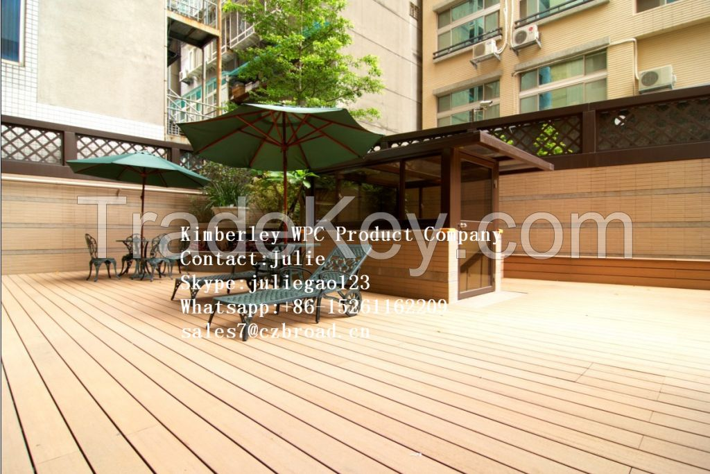 Price WPC Decking/WPC Flooring/WPC Decking/Construction Material Wood Plastic Composites /Fashionable Decorative WPC