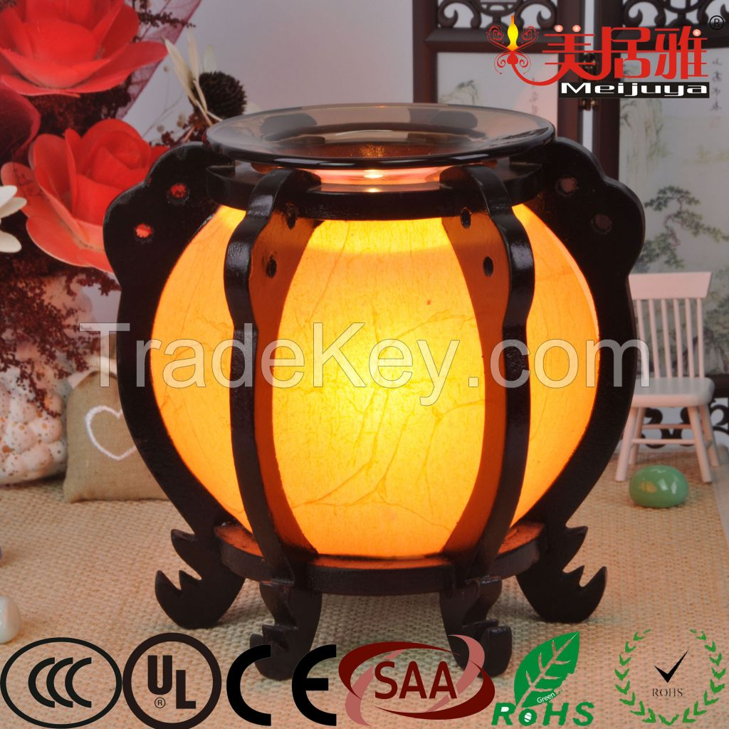 Wholesale electric wooden fragrance lamp oil burner aroma burner M0083